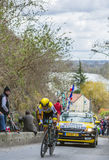 El ciclista George Bennett - 2016 París-agradable Foto de archivo