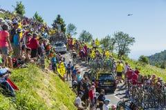 El ciclista George Bennett - Tour de France 2016 Imágenes de archivo libres de regalías