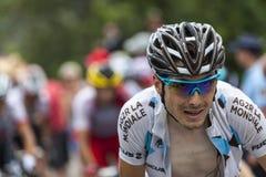 El ciclista Hubert Dupont Imagen de archivo