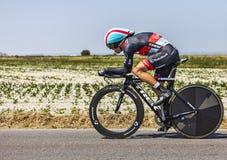 El ciclista Jan Bakelants Imagen de archivo libre de regalías