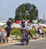 El ciclista Jean-Christophe Peraud Foto de archivo libre de regalías