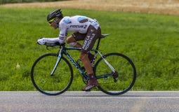 El ciclista Jean-Christophe Peraud Fotos de archivo libres de regalías