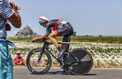 El ciclista Jens Voigt Imágenes de archivo libres de regalías
