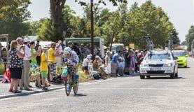 El ciclista Johannes Fröhlinger Imagen de archivo libre de regalías
