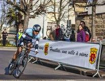 El ciclista Juan Meersman- París Niza Prolo 2013 Imagen de archivo libre de regalías