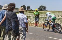 El ciclista Julien El Fares Foto de archivo