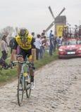 El ciclista Maarten Wynants - París-Roubaix 2018 Fotos de archivo