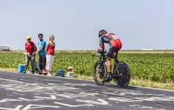 El ciclista Manuel Quinziato fotos de archivo