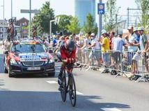 El ciclista Manuel Quinziato - Tour de France 2015 imagen de archivo