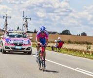 El ciclista Marco Marzano Fotografía de archivo libre de regalías