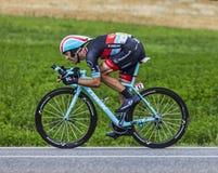 El ciclista Maxime Monfort Foto de archivo libre de regalías