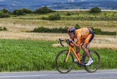 El ciclista Mikel Astarloza Fotos de archivo