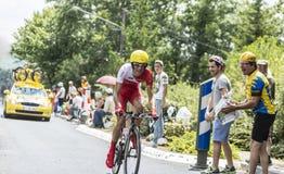 El ciclista Nicolas Edet Imágenes de archivo libres de regalías