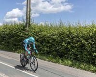 El ciclista Nikita Stalnov - Criterium du Dauphine 2017 Imagen de archivo libre de regalías