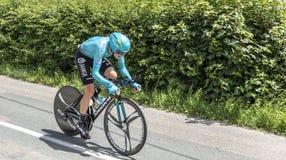 El ciclista Nikita Stalnov - Criterium du Dauphine 2017 Fotografía de archivo libre de regalías