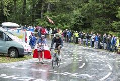 El ciclista Perrig Quemeneur Imágenes de archivo libres de regalías