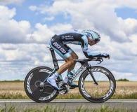 El ciclista Peter Velits Imágenes de archivo libres de regalías