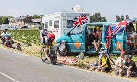 El ciclista Philippe Gilbert Fotografía de archivo libre de regalías
