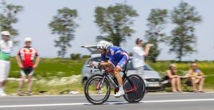 El ciclista Pierrick Fedrigo Imagen de archivo libre de regalías