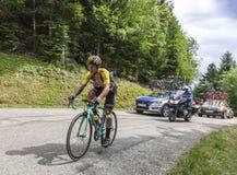 El ciclista Primoz Roglic - Tour de France 2017 imagen de archivo libre de regalías