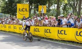 El ciclista Rigoberto Uran Uran - Tour de France 2015 Imágenes de archivo libres de regalías
