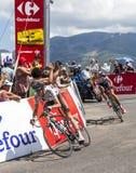 El ciclista Romain Bardet Imagen de archivo libre de regalías