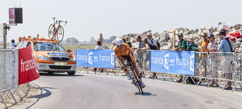 El ciclista Ruben Perez Moreno Fotos de archivo