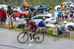 El ciclista Samuel Sanchez - Tour de France 2015 Fotos de archivo libres de regalías