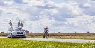 El ciclista Sandy Casar Imágenes de archivo libres de regalías