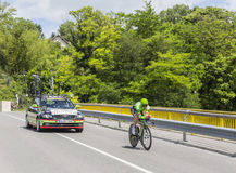 El ciclista Sebastian Langeveld - Criterium du Dauphine 2017 Foto de archivo