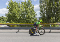 El ciclista Sebastian Langeveld - Criterium du Dauphine 2017 Fotografía de archivo