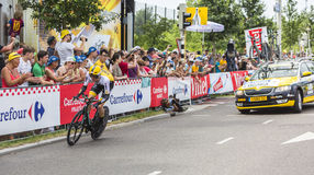 El ciclista Steven Kruijswijk - Tour de France 2015 Imágenes de archivo libres de regalías