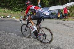 El ciclista Tony Gallopin - Tour de France 2017 fotografía de archivo