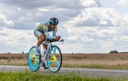 El ciclista Vinokourov Alejandro del Kazak Foto de archivo