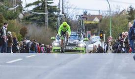El ciclista Wouter Wippert - 2016 París-agradable Foto de archivo