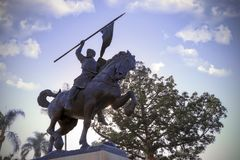 El Cid Statue in Balboa Park, San Diego Royalty Free Stock Images