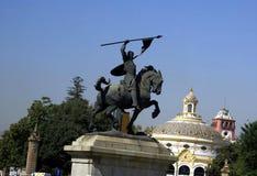 El Cid-Statue in Sevilla, Spanien Stockbilder