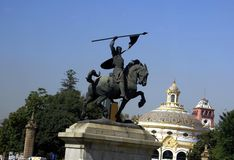 El Cid statue in Seville, Spain Stock Images