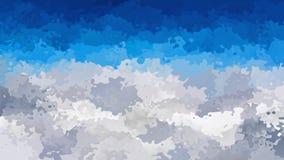 El cielo azul video manchado animado abstracto del lazo inconsútil del fondo sobre gris y blanco coloreó las nubes almacen de video