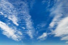 El cielo con las nubes Fotografía de archivo libre de regalías