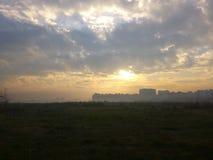 El cielo de la mañana imagen de archivo