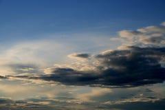 El cielo de la tarde Imágenes de archivo libres de regalías