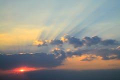 El cielo de la tarde Foto de archivo libre de regalías