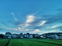 El cielo de los lados del país Foto de archivo