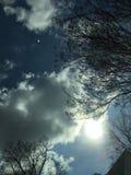 El cielo del delta Fotografía de archivo libre de regalías