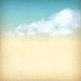 El cielo del vintage se nubla el fondo texturizado papel viejo Imágenes de archivo libres de regalías