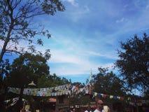 El cielo/el rezo del reino animal señala a Walt Disney World por medio de una bandera Imagen de archivo libre de regalías