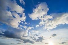 El cielo hermoso Fotografía de archivo