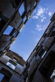 El cielo maravilloso de la naturaleza de la arquitectura del cartel de la foto del paisaje abundó no construyendo ninguna perspec Fotografía de archivo