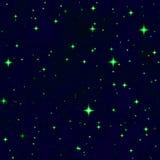 El cielo nocturno verde de la fantasía de la estrella Imagen de archivo libre de regalías